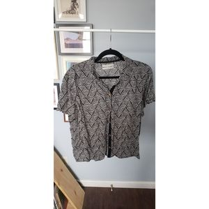 Urban Outfitters Geometric Button Down